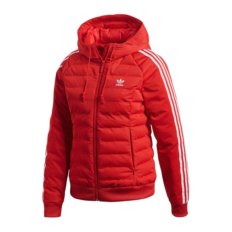 ADIDAS ORIGINALS SLIM Jacket Jacke Damen Rot - EUR 89,96 ...