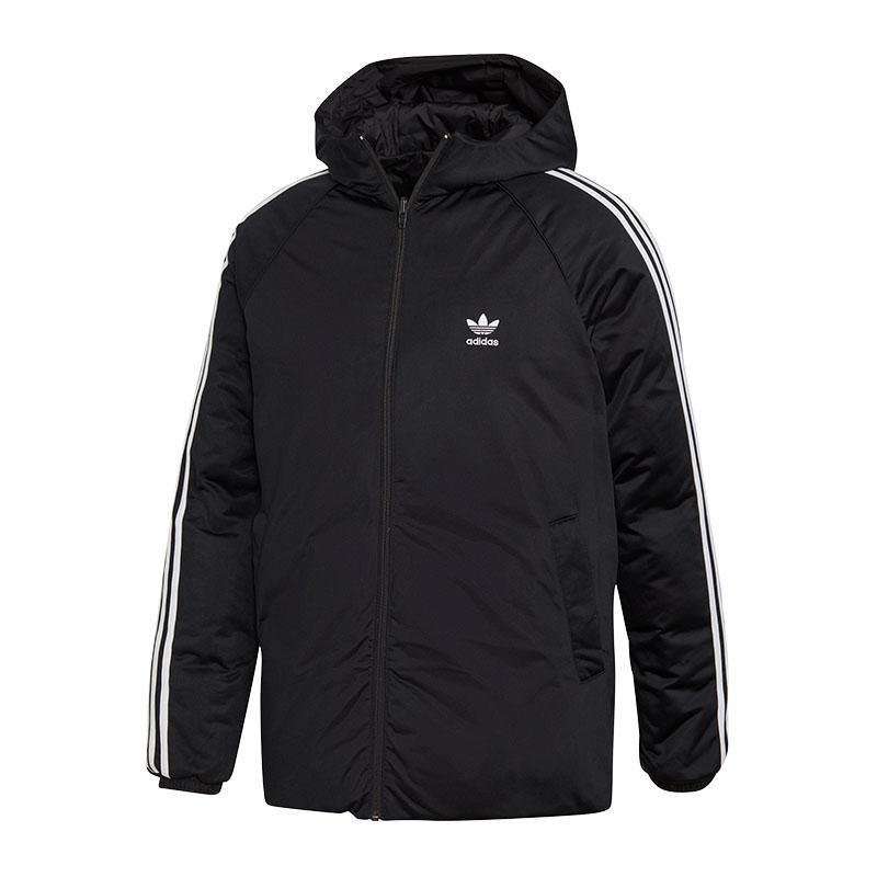 Dettagli su Adidas Originals Foglie Piumino Giacca Double Face Nero