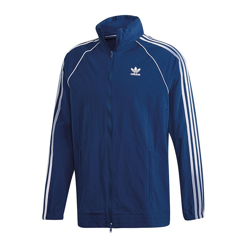 Originals feuilles bleu Coupe vent Adidas 1qIEaPx
