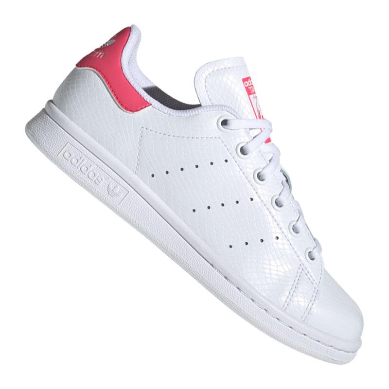 ADIDAS ORIGINALS STAN Smith Sneaker Kids Weiss Rot EUR 64
