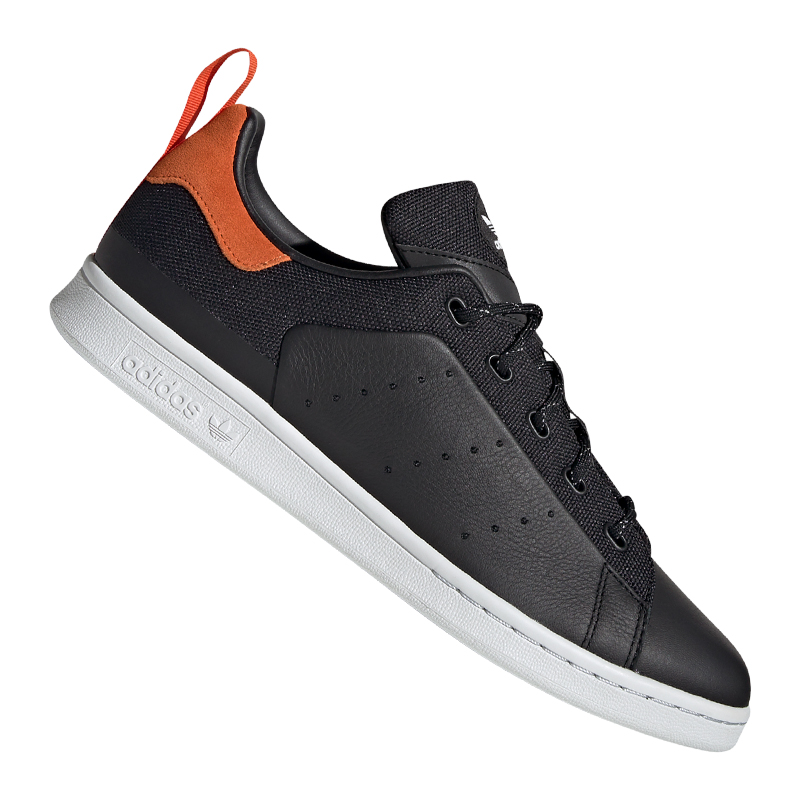 Royaume-Uni disponibilité 77dbc 65a2c Détails sur Adidas Originals Stan Smith Baskets Noir Orange