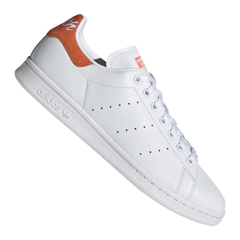 Détails sur Adidas Originals Stan Smith Sneaker Blanc Orange afficher le titre d'origine