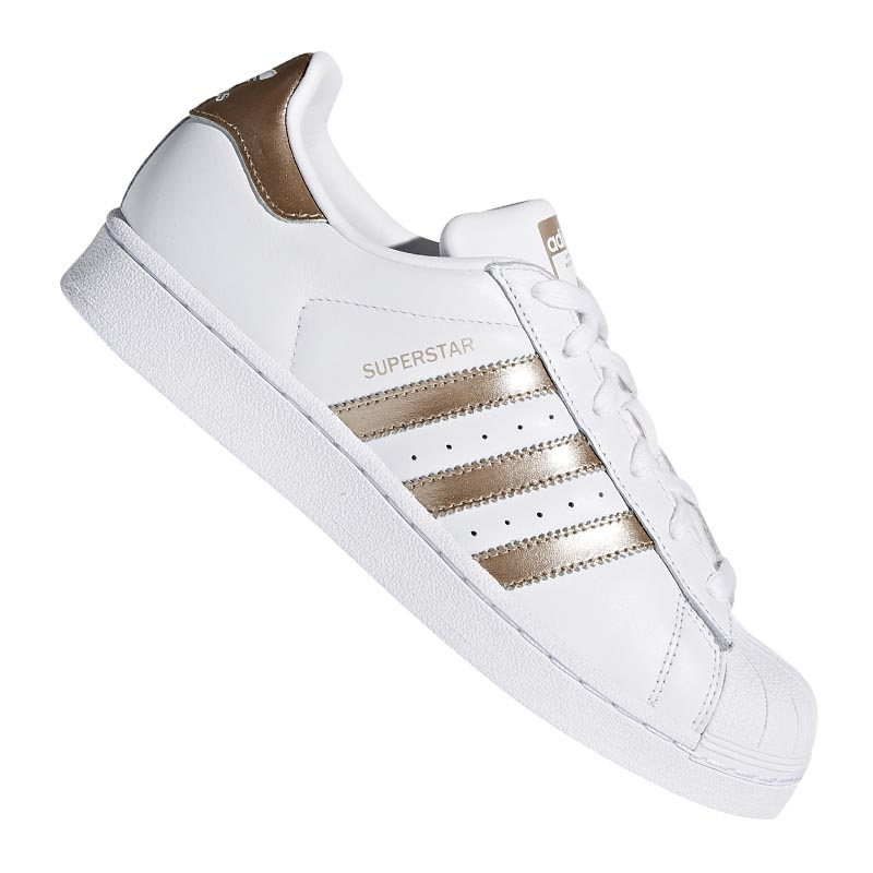 ADIDAS ORIGINALS SUPERSTAR Damen Weiss Gold