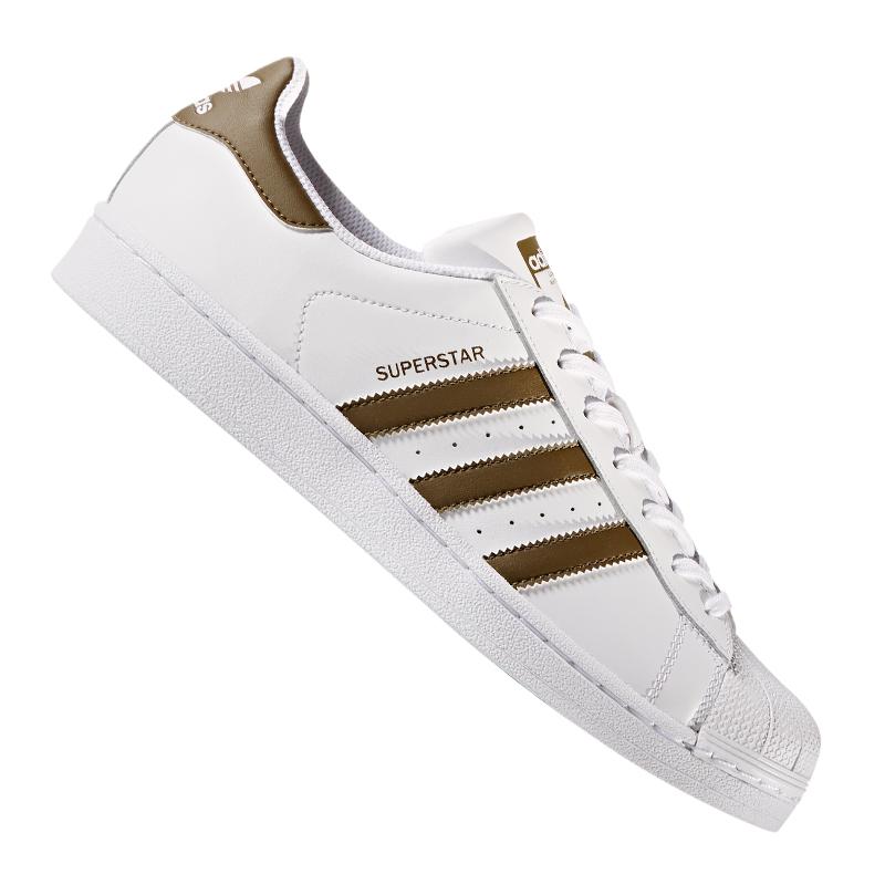 adidas Originals Superstar Sneaker Weiss Khaki