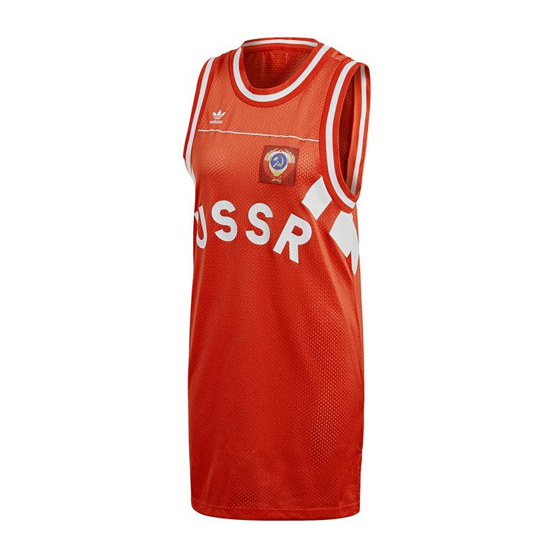 moulante Russie Damen Originals Adidas Robe Rot KclTFJ13