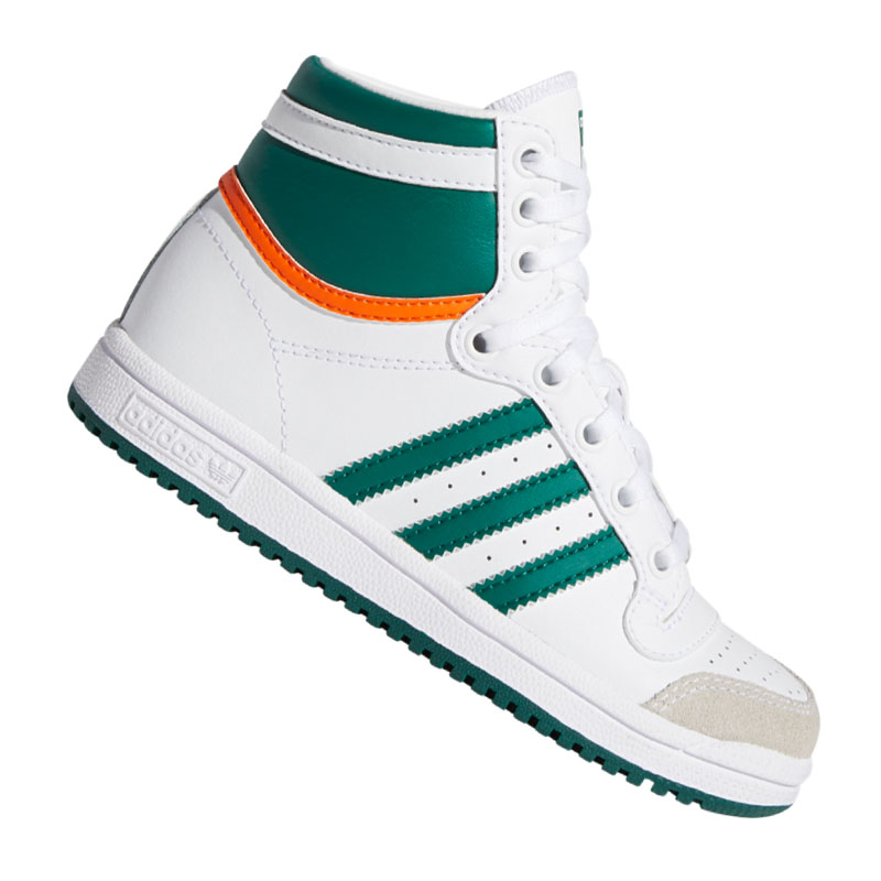 Details zu adidas Originals Top Ten HI Sneaker Kids Weiss Grü