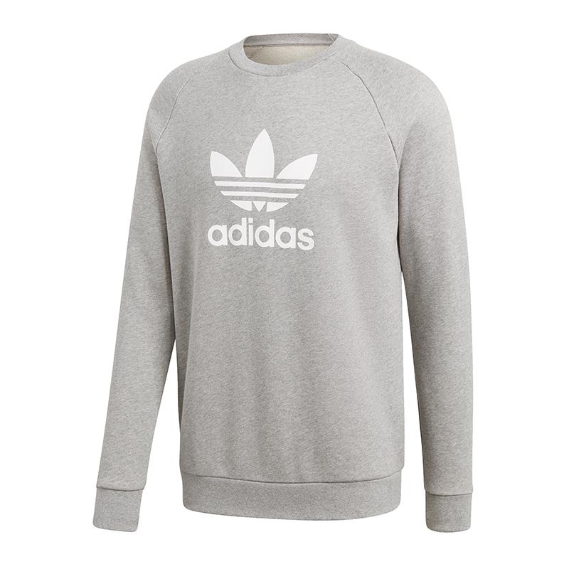 0f54ea7057 adidas Originals Trefoil Crew Sweatshirt Grau | eBay