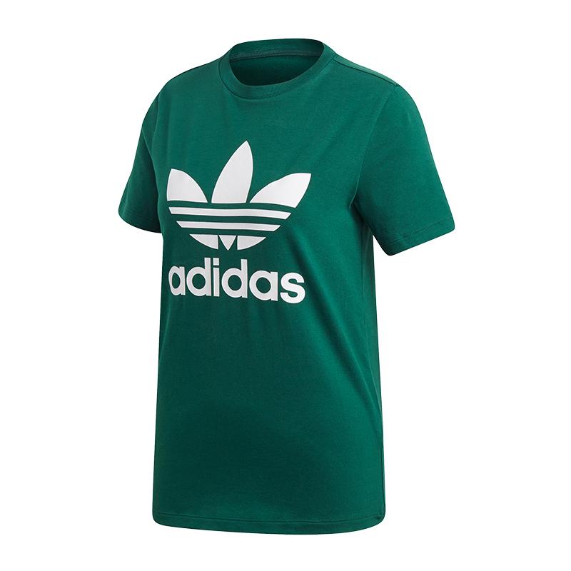 677635c89 La imagen se está cargando Adidas-Originals-Trefoil-Camiseta-Mujer-Verde
