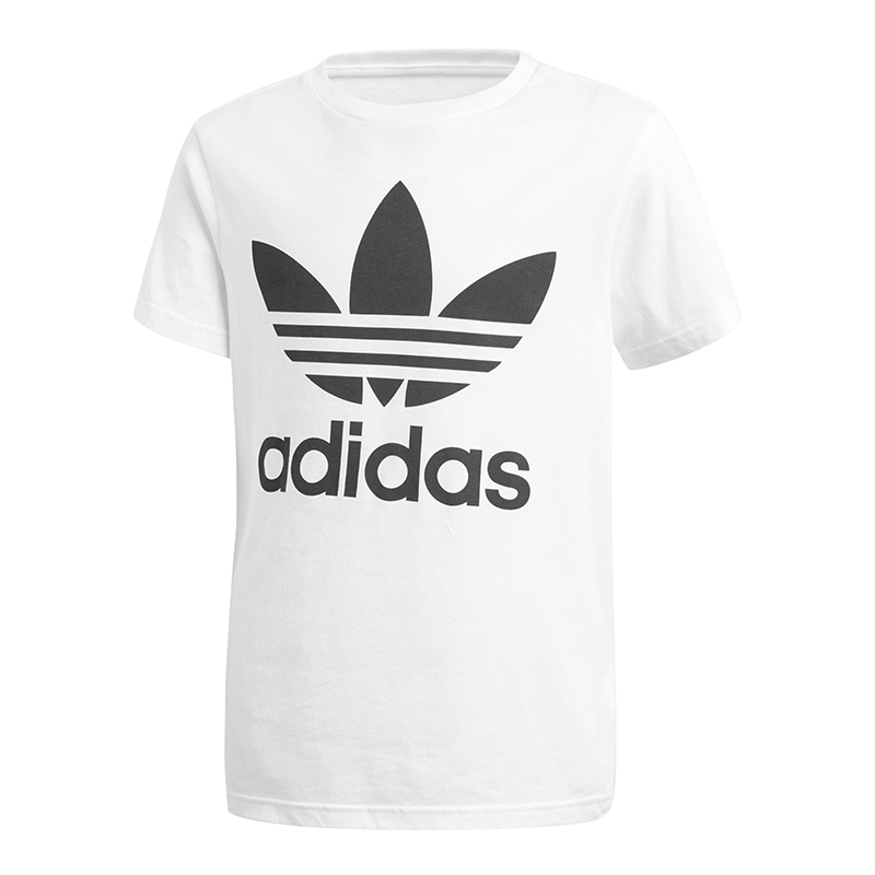 f0e876a3c4013 ... Adidas-Originals-Trefoil-Tee-T-Shirt-Enfants-Blanc