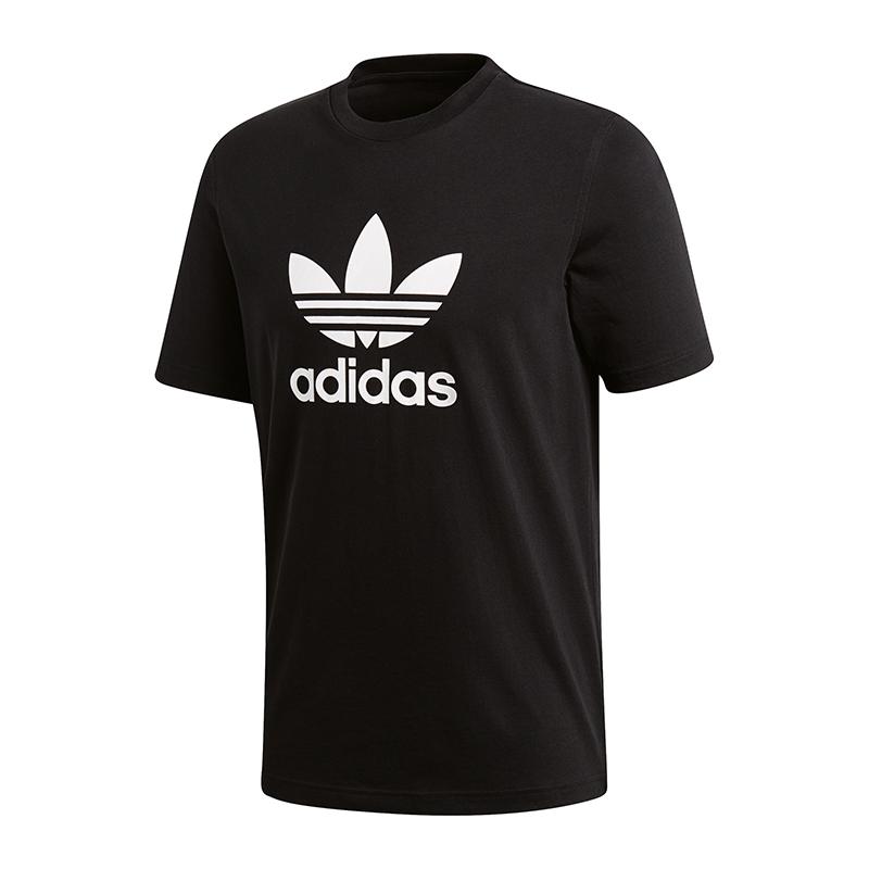 ADIDAS ORIGINALS TREFOIL Tee T Shirt Schwarz