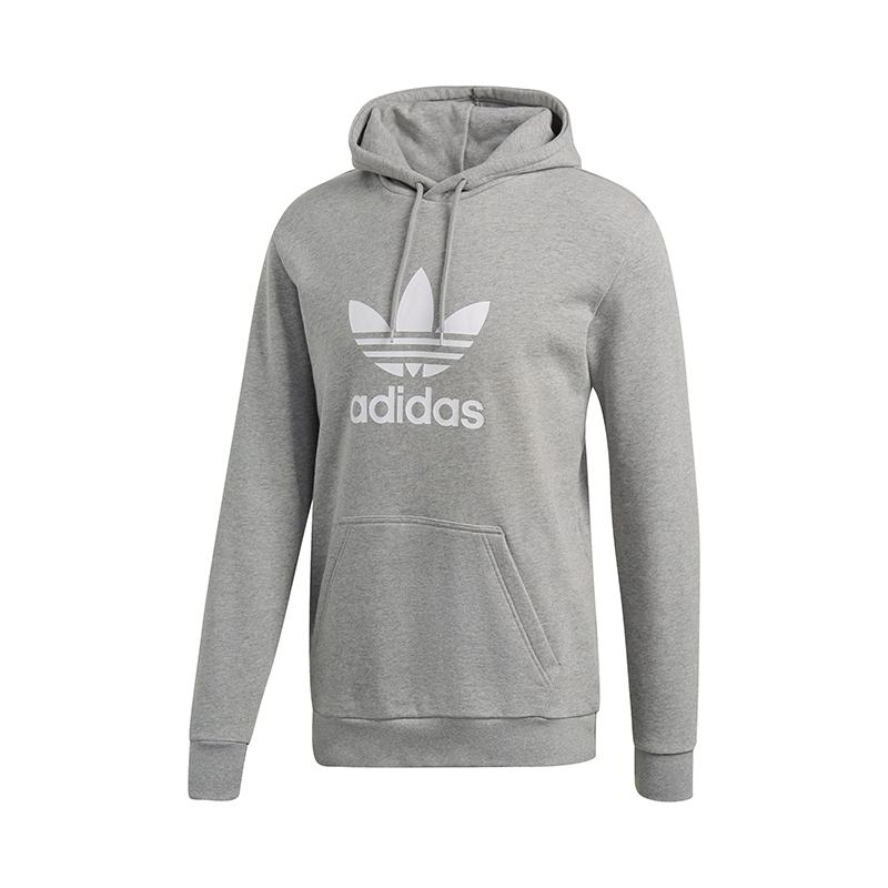 capuche Warm Grau Adidas à Up Sweat Originals Trefoil Bnqp15wFU