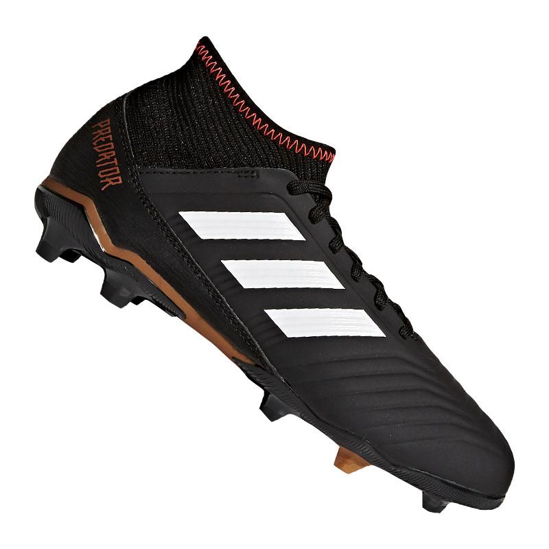 Adidas Protator 18.3 FG J Kids Schwarz Weiss