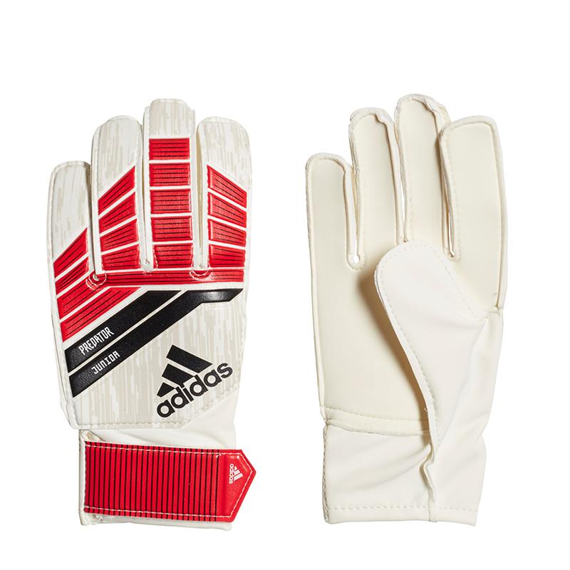La imagen se está cargando Adidas-Predator-Jr-Guante-del-portero-blanco-rojo 4c1fd7d2300b3