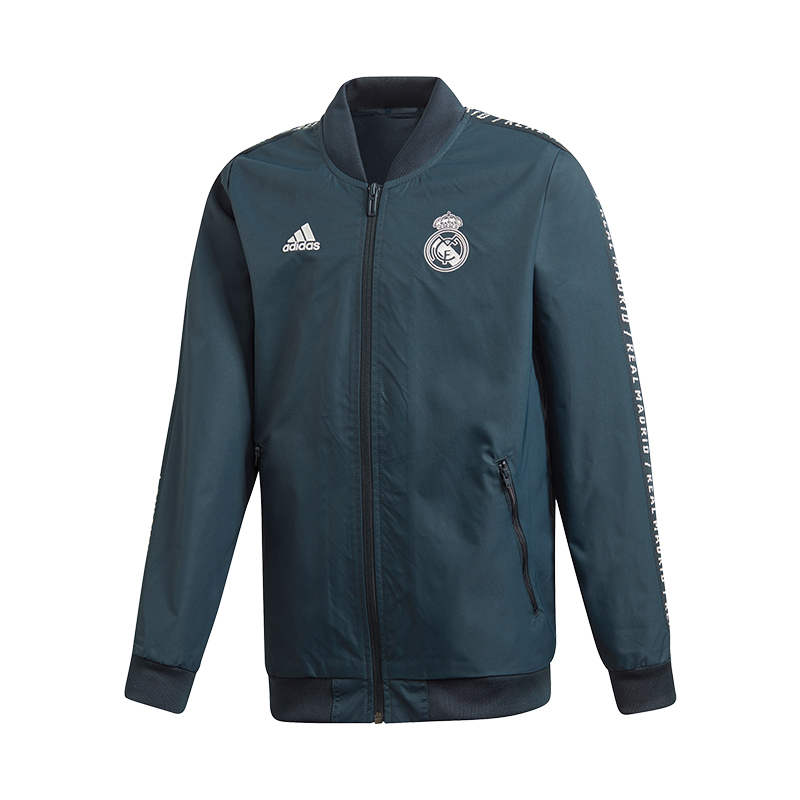 Details zu adidas Real Madrid Anthem Jacket Jacke Kids Blau