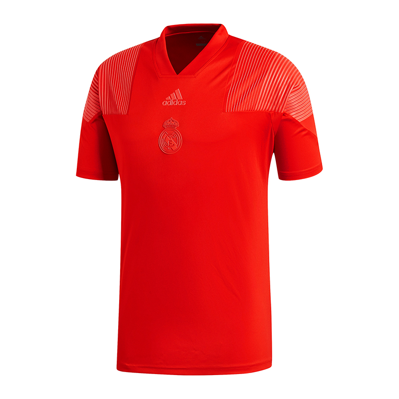 Adidas Real Madrid Registrato Icone T-Shirt Rossa