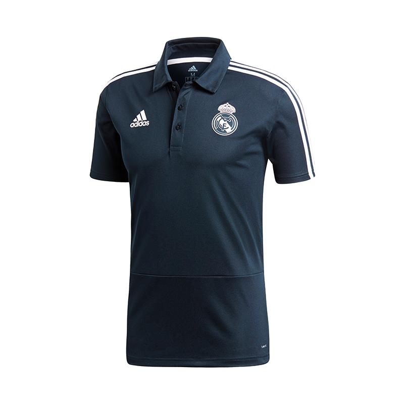 4a3d7ecaaeba9 La imagen se está cargando Adidas-Real-Madrid-Camiseta-Polo-Azul