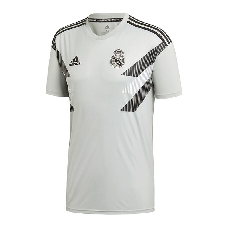 Grau Shirt Prematch Madrid Real Adidas Hohe Qualität
