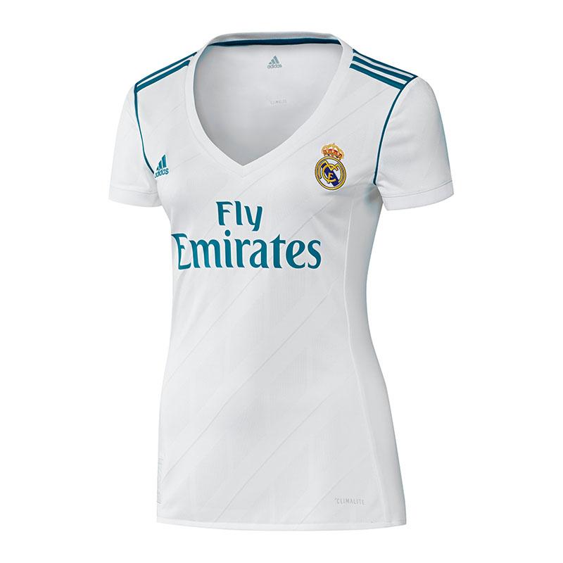 La imagen se está cargando Adidas-Real-Madrid-Camiseta-Casa-Mujer-2017-2018 1c516eb854b