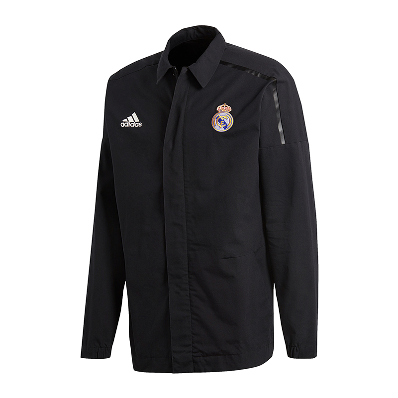 Details zu adidas Real Madrid Z.N.E. Jacket Woven Schwarz