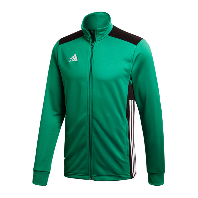 Adidas REGISTA 18 Polyesterjacke Trainingsjacke grün schwarz