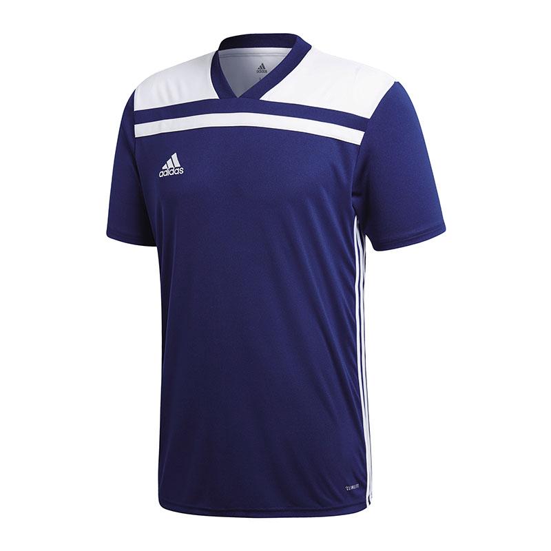Détails sur Adidas Regista 18 Maillot Manches Courtes Bleu Marine Blanc