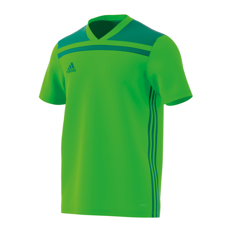 La imagen se está cargando Adidas-REGISTA-18-Camiseta -manga-corta-ninos-verde- 068b56a796cd2