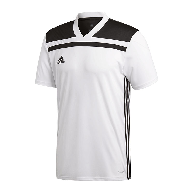 adidas regista 18 trikot kurzarm weiss schwarz ebay. Black Bedroom Furniture Sets. Home Design Ideas