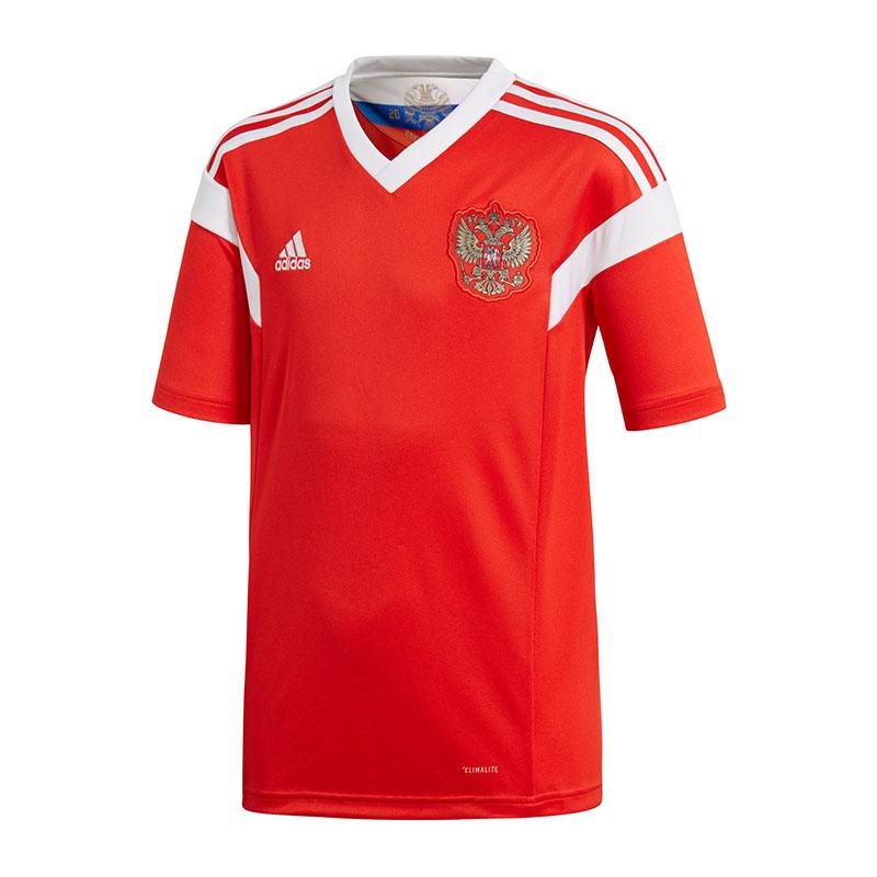 ADIDAS-RUSIA-Camiseta-Casa-Ninos-WM-2018-Rojo-Blanco