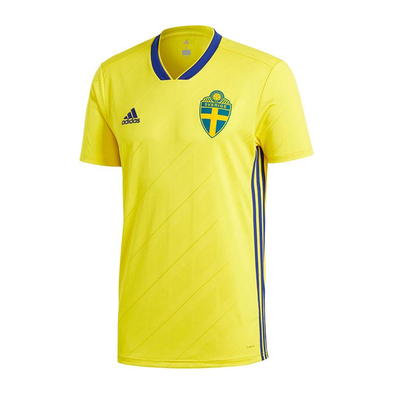 482bbcde50f18 La imagen se está cargando ADIDAS-SUECIA-Camiseta-Casa-WM-2018-AMARILLO