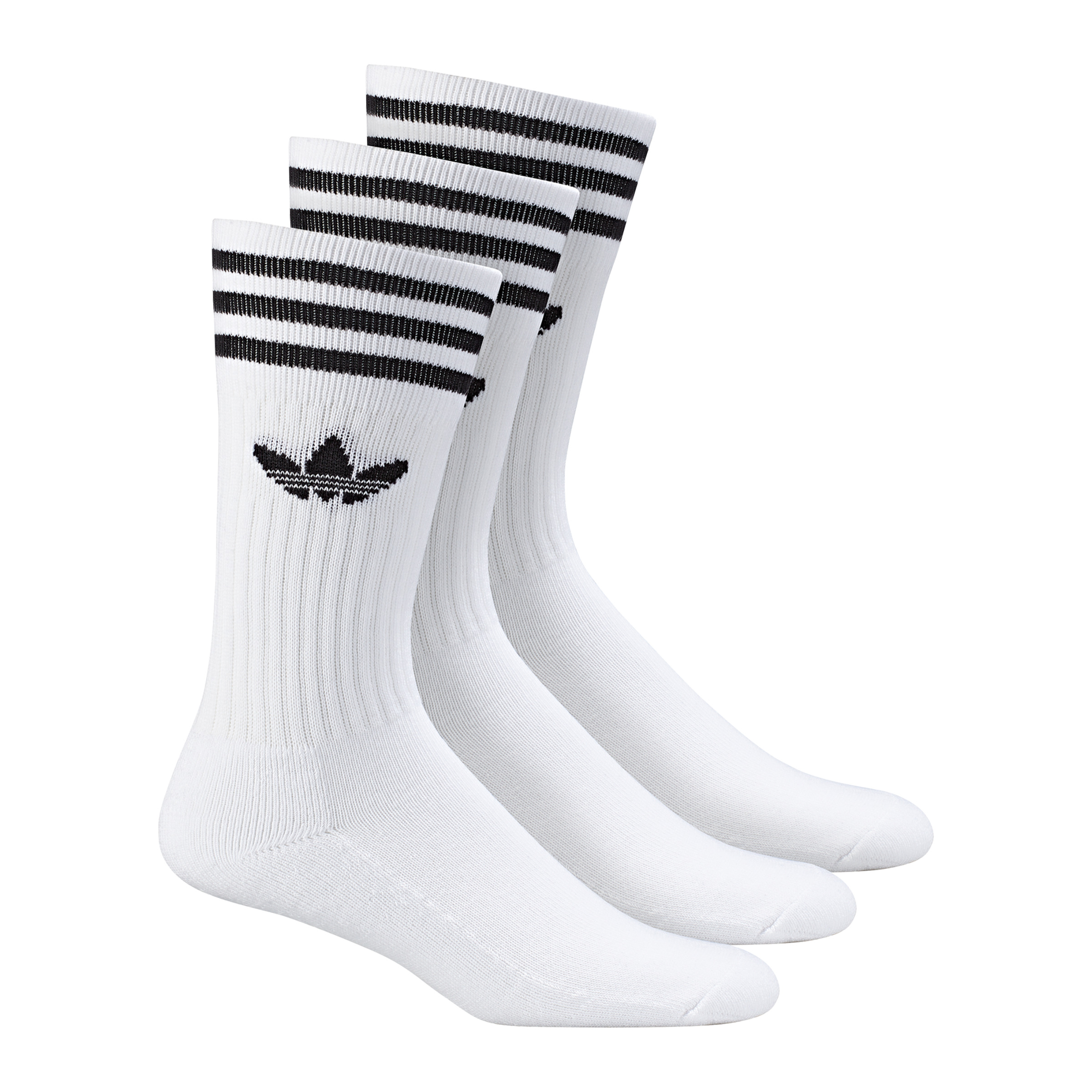 Adidas-Solid-Crew-Calcetines-3er-Pack-Blanco-y-Negro