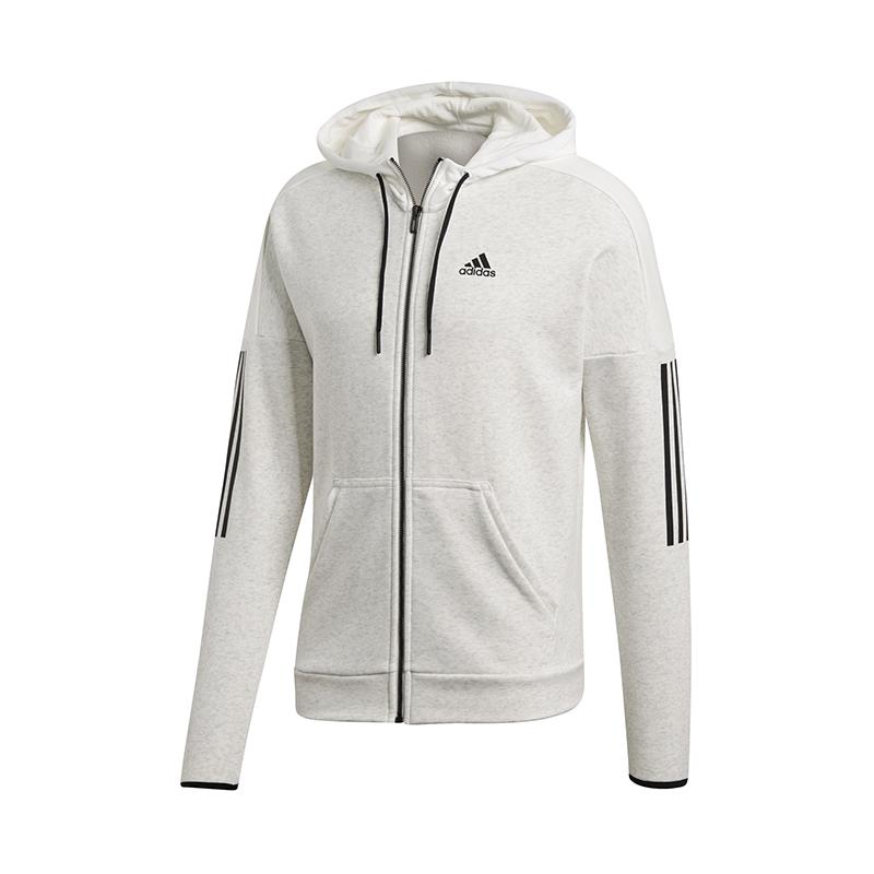 Adidas Sport Id Logo Full-zip Hoody Weiss Noch Nicht VulgäR