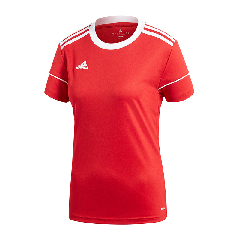 Adidas Squadra 17 Maillot Manches Courtes Femmes Blanc Rouge
