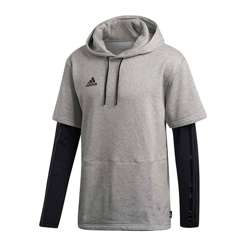 Layered Felpa Adidas Con Grigio Per Ebay Tango Allenamento Cappuccio 56vv7O