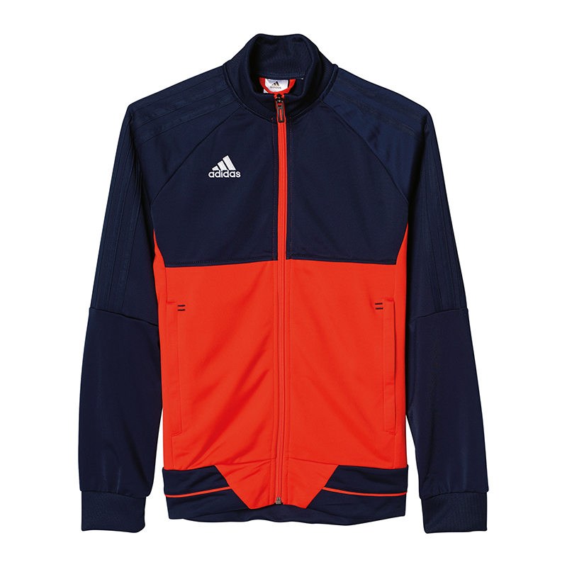 Details zu adidas Tiro 17 Trainingsjacke Kids Blau Rot