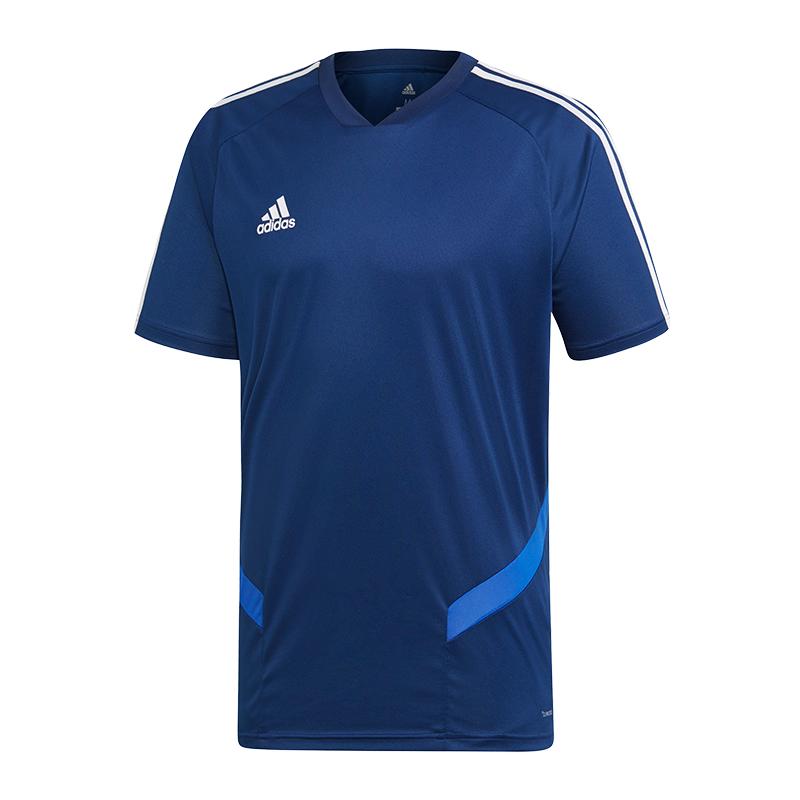 La imagen se está cargando Adidas-Tiro-19-Camiseta-de-Entrenamiento-Azul- Blanco ced398fd75b74