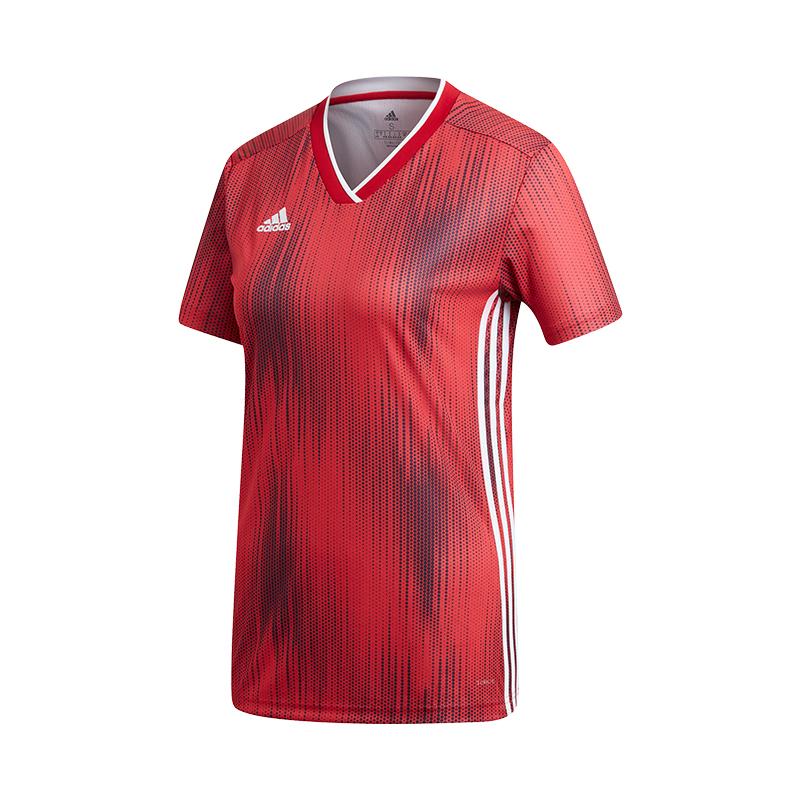 La imagen se está cargando Adidas-Tiro-19-Camiseta-Manga-Corta-Mujer-Rojo- 32d5595e6c957