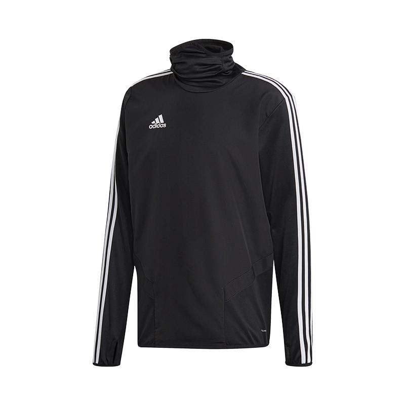 Doux Adidas Tiro 19 Chaud Haut Sweat-shirt Noir Blanc