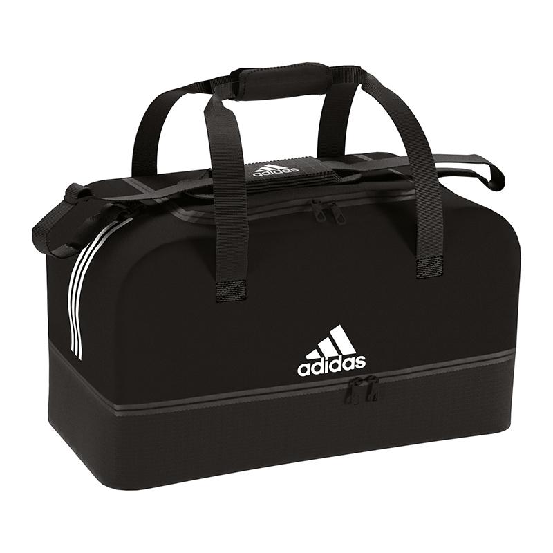 ADIDAS TIRO DUFFEL Bag Tasche Gr. S Schwarz Weiss EUR 22