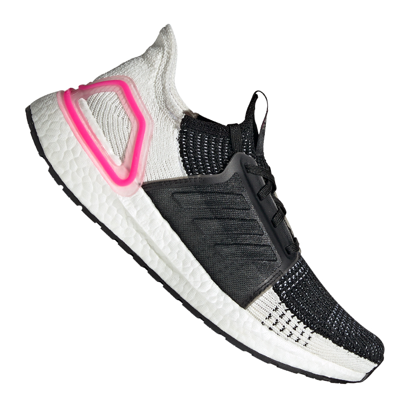 Detalles de Adidas Ultra Boost 19 Running Mujer Negro Blanco