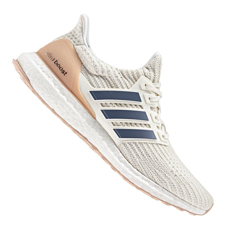 Adidas  Ultra Boost Running Weiss Beige blueeeeeeee  fast shipping worldwide