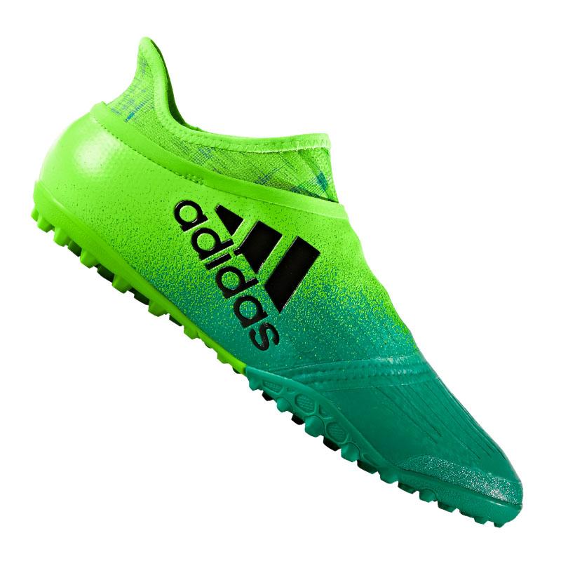 100% authentic 02e45 3b9dd ... zapatos de soccer la imagen se está cargando adidas x tango 16 purechaos  tf verde negro