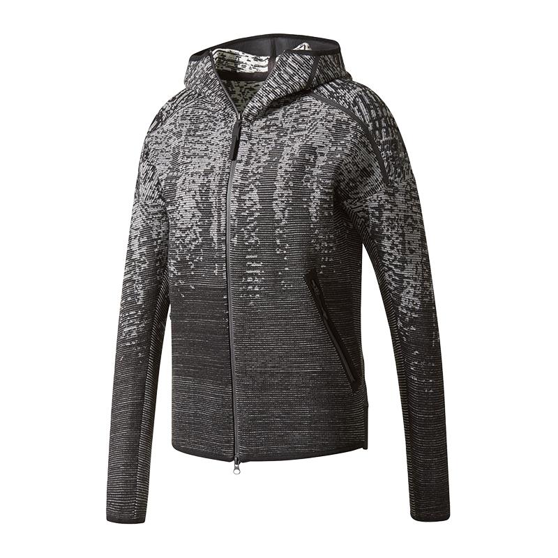 Kapuzenjacke Grau Adidas Hd e n Damen Kn Z Pouls ZYg4Z
