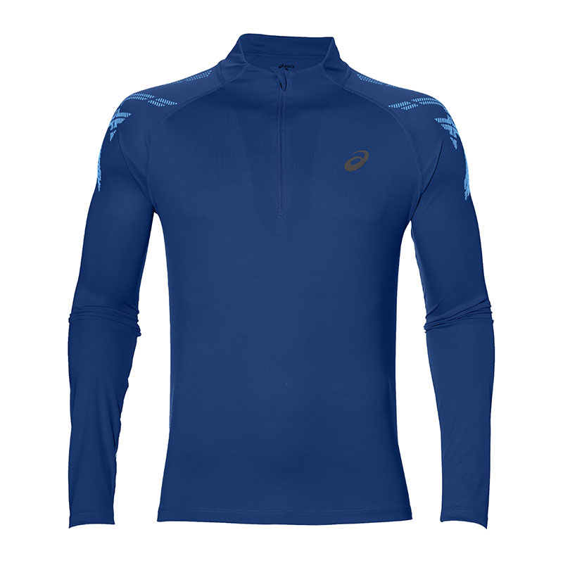 Asics Stripe 1 2 Zip T-Shirt Running F8168
