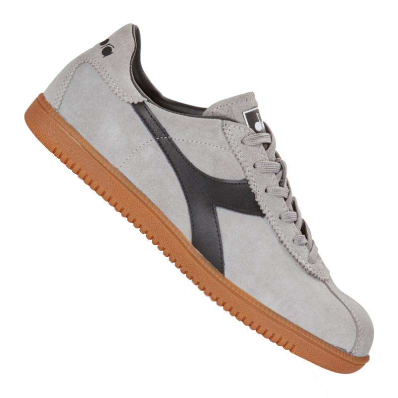 Diadora tokyo trainers in grey white black c3086