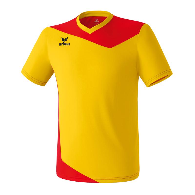 Erima-Glasgow-Camiseta-Manga-Corta-Rojo-Amarillo