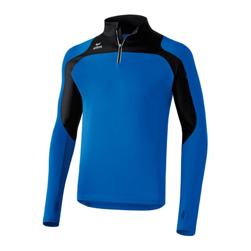Erima Race Line Running Longsleeve  bluee black  welcome to order