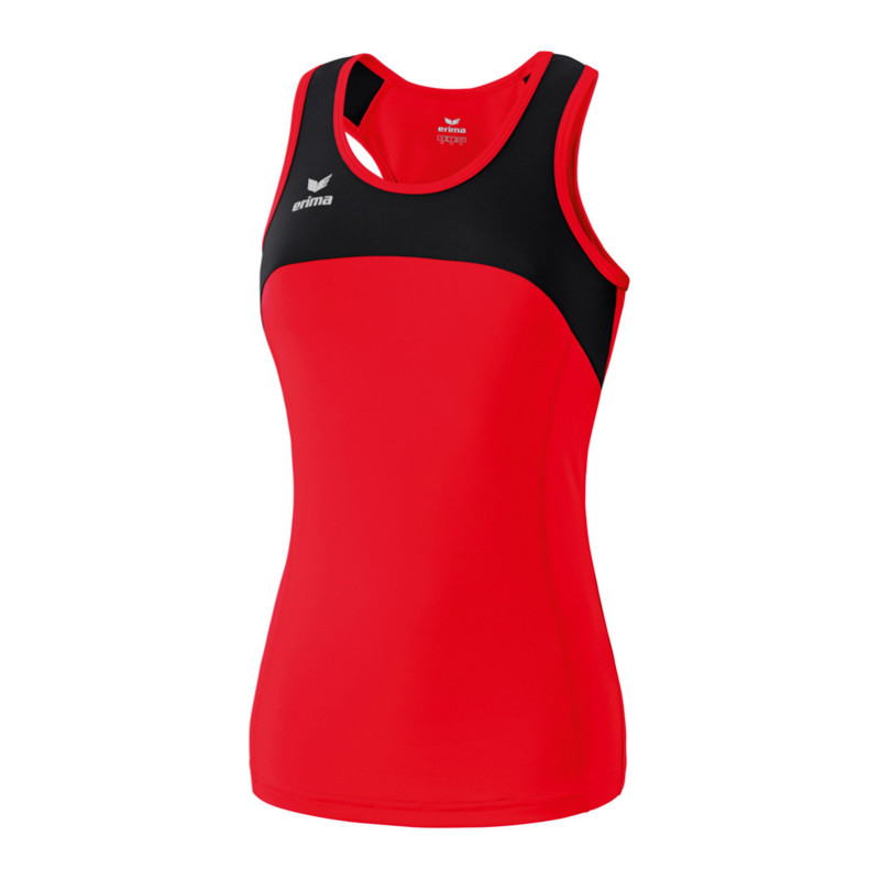 Erima Race Line Running Singlet Ladies Red