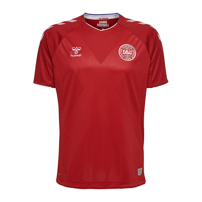 Hummel Dbu Danemark Maillot Maison Coupe Du Monde 2018 Enfants red