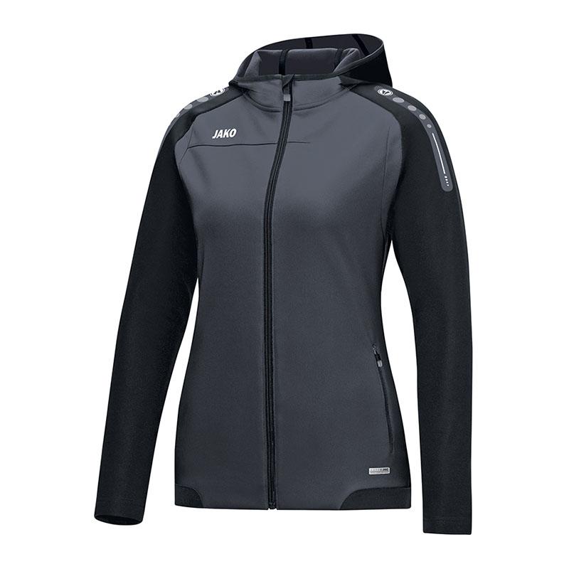 Jako Champ con cappuccio giacca da donna nero grigio f21