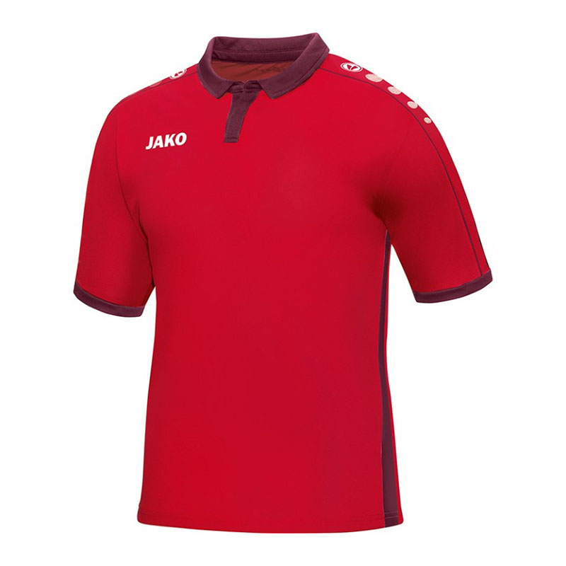 Jako-Derby-Camiseta-Manga-Corta-Rojo-F01